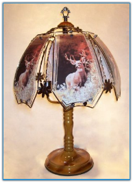 Trophy Buck Deer Touch Lamp - Dark Oak