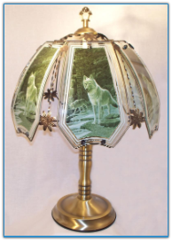 Forest Wolves Touch Lamp