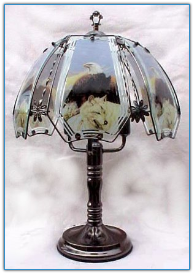 Eagle with Wolf Touch Lamp