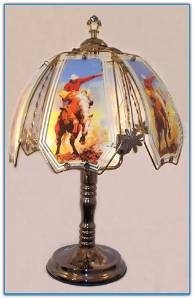 Bronco Rider Touch Lamp