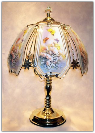 Butterflies With Flowers Touch Lamp