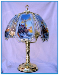 Lighthouse On Rocky Shores Touch Lamp