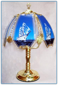 Clipper Ship Touch Lamp