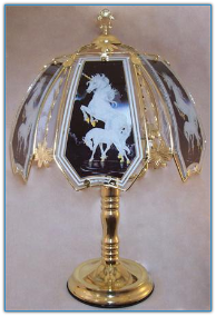 Unicorn Touch Lamp - Brass