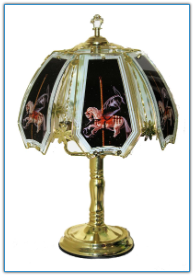 Merry Go Round Carasel Horse Touch Lamp