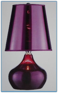 Luster Magenta Table Lamp