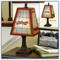 Budweiser - Art Glass Table Lamp