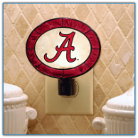 Alabama Crimson Tide - Art Glass Night Light