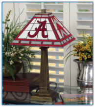 Alabama Crimson Tide - Stained-Glass Mission-Style Table Lamp