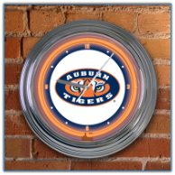 Auburn Tigers - Neon Light Wall Clock