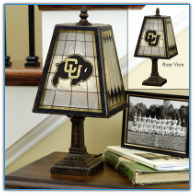 Colorado Buffaloes - Art Glass Table Lamp