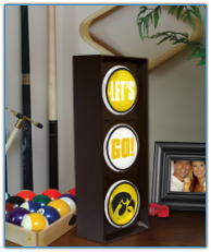 Iowa Hawkeyes - Flashing Let's Go Light