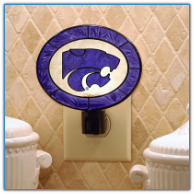 Kansas State Wildcats - Art Glass Night Light