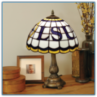 Louisiana State Tigers - Stained-Glass Tiffany-Style Table Lamp