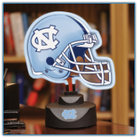 North Carolina Tar Heels - Neon Helmet & Cap Desk Lamp