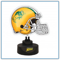 North Dakota State Bison - Neon Helmet & Cap Desk Lamp