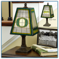 Oregon Ducks - Art Glass Table Lamp