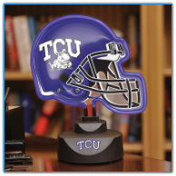Texas Christian Horned Frogs - Neon Helmet & Cap Desk Lamp