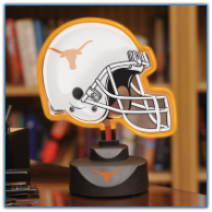 Texas Longhorns - Neon Helmet & Cap Desk Lamp
