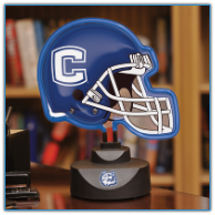 Connecticut Huskies - Neon Helmet & Cap Desk Lamp