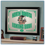 North Dakota Fighting Sioux - Framed Mirror