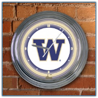 Washington Huskies - Neon Light Wall Clock