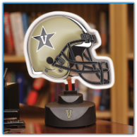 Vanderbilt Commodores - Neon Helmet & Cap Desk Lamp