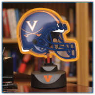 Virginia Cavaliers - Neon Helmet & Cap Desk Lamp