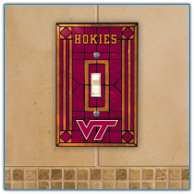 Virginia Tech Hokies - Single Art Glass Light Switch Cover