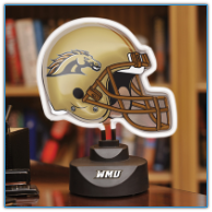 Western Michigan Broncos - Neon Helmet & Cap Desk Lamp