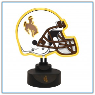 Wyoming Cowboys - Neon Helmet & Cap Desk Lamp