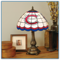 Chicago Cubs - Stained-Glass Tiffany-Style Table Lamp
