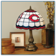 Cincinnati Reds - Stained-Glass Tiffany-Style Table Lamp