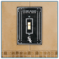 Chicago White Sox - Single Art Glass Light Switch Cover