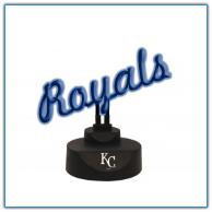 Kansas City Royals - Neon Script Desk Lamp
