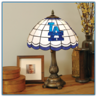 Los Angeles Dodgers - Stained-Glass Tiffany-Style Table Lamp