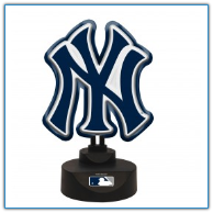 New York Yankees -Team Logo Neon Desk Lamp