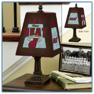 Miami Heat - Art Glass Table Lamp