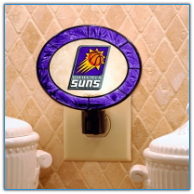 Phoenix Suns - Art Glass Night Light