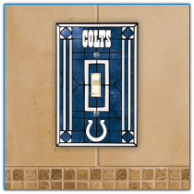 Indianapolis Colts - Single Art Glass Light Switch Cover