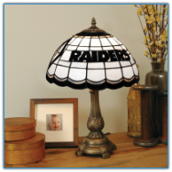 Oakland Raiders - Stained-Glass Tiffany-Style Table Lamp
