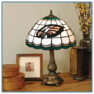 Philadelphia Eagles - Stained-Glass Tiffany-Style Table Lamp