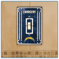 San Diego Chargers - Single Art Glass Light Switch Cover