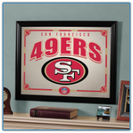 San Francisco 49ers - Framed Mirror