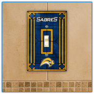 Buffalo Sabres - Single Art Glass Light Switch Cover