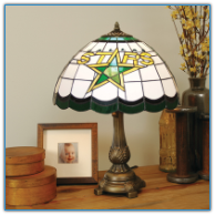 Dallas Stars - Stained-Glass Tiffany-Style Table Lamp
