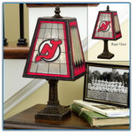 New Jersey Devils - Art Glass Table Lamp