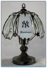 Small New York Yankees Clear Touch Lamp
