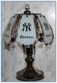 Small New York Yankees Touch Lamp