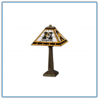 Missouri Tigers - Stained-Glass Mission-Style Table Lamp